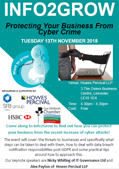 Leicester Info2Grow: Protecting Your Business From Cyber Crime